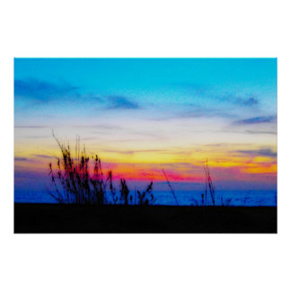 Margarita Sunset Poster