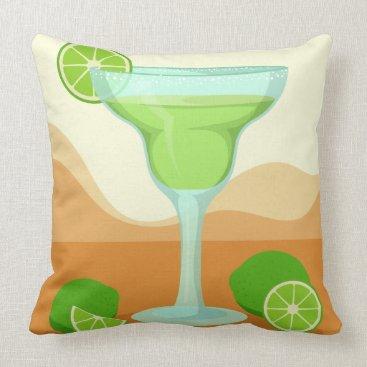 """Beach Themed """"Margarita"""" throw pillows"""