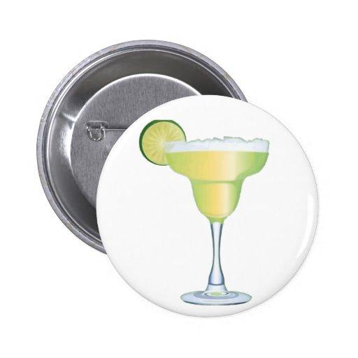 Margarita Time Pinback Button