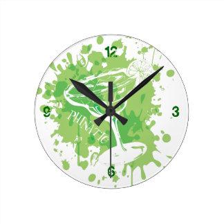 Margarita Time Round Wall Clocks