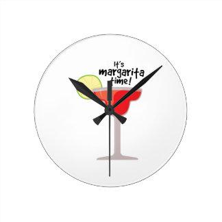 Margarita Time Round Clock