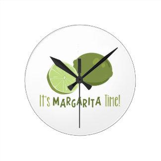 Margarita Time Round Wallclocks