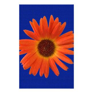 Margarita viva del Gerbera del naranja y del Papeleria De Diseño
