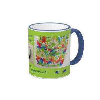 Margarita y taza del café y del té de la turquesa