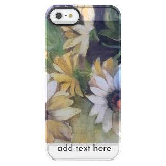Margaritas amarillas funda clear para iPhone SE/5/5s