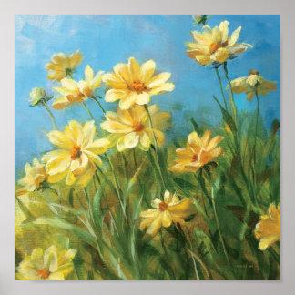 Margaritas amarillas hermosas póster