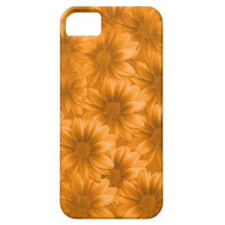 Margaritas anaranjadas acodadas del Gerbera iPhone 5 Fundas