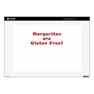 """Margaritas are Gluten Free 15"""" Laptop Skins"""