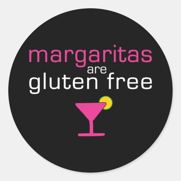 Margaritas are Gluten Free Classic Round Sticker