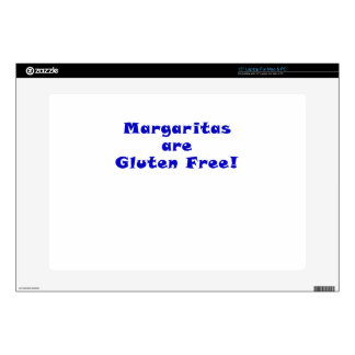 """Margaritas are Gluten Free Decals For 15"""" Laptops"""