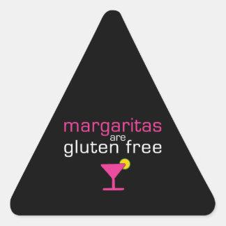 Margaritas are Gluten Free Triangle Sticker
