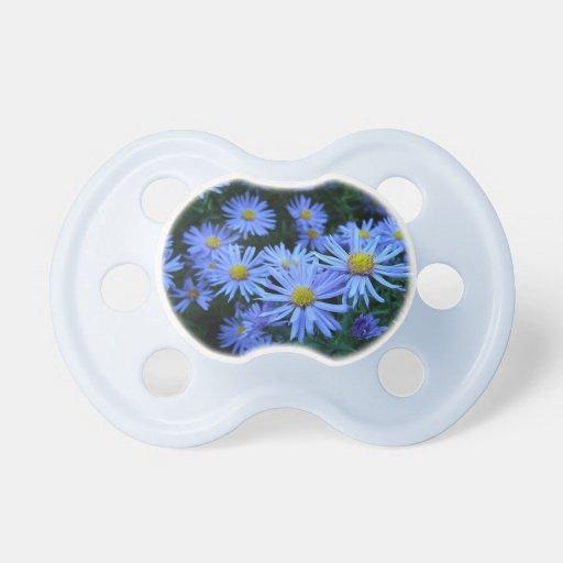 Margaritas azules chupetes para bebes