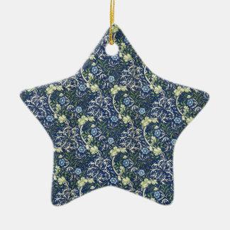 Margaritas azules de William Morris Adorno De Cerámica En Forma De Estrella
