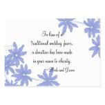 Margaritas azules del bígaro que casan la tarjeta  plantillas de tarjetas personales