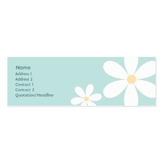 Margaritas azules - flacas tarjetas de visita mini