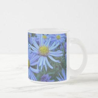 Margaritas azules taza de cristal