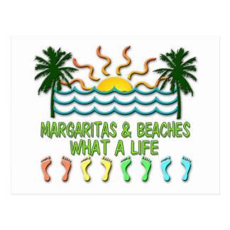 Margaritas & Beaches Post Card