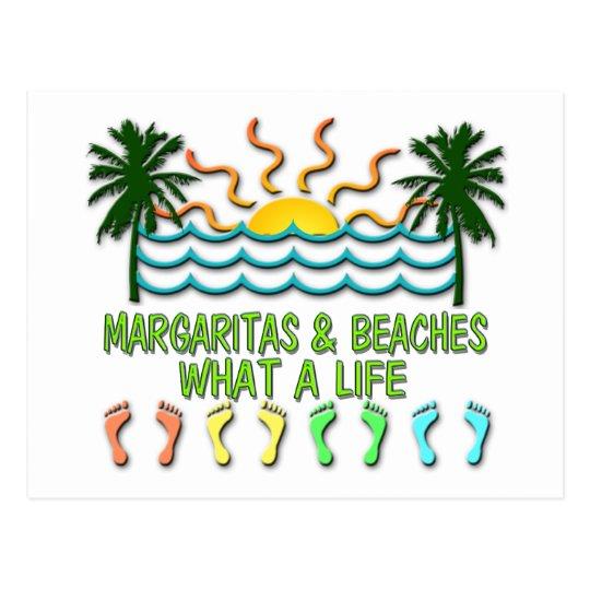 Margaritas & Beaches Postcard
