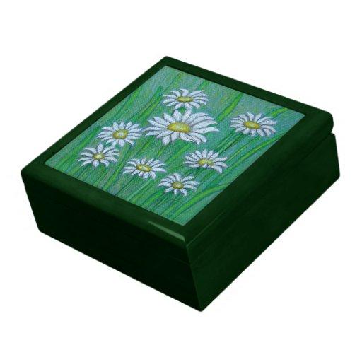 Margaritas blancas caja de regalo