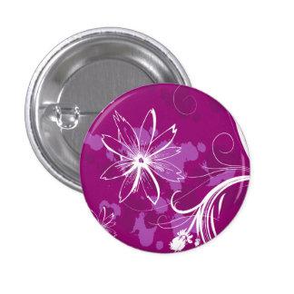 Margaritas blancas en púrpura pins