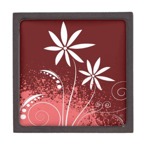 Margaritas blancas en rosa y rojo caja de regalo de calidad