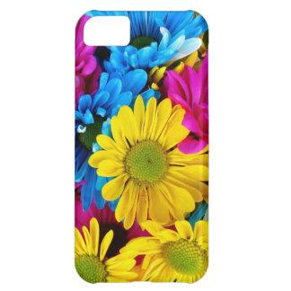 Margaritas brillantemente coloreadas carcasa para iPhone 5C