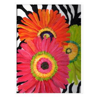 Margaritas brillantes y coloridas del Gerbera Postales