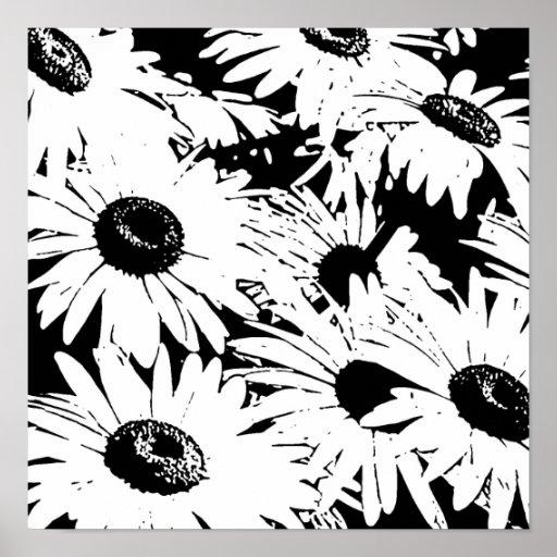 Margaritas de Black&White Poster