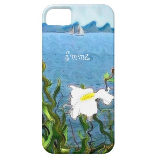 Margaritas de la orilla del lago funda para iPhone 5 barely there