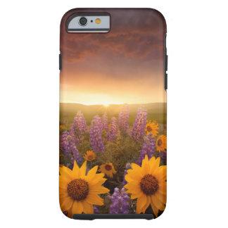 Margaritas de la puesta del sol funda resistente iPhone 6