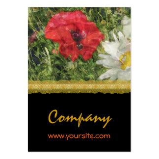 Margaritas de las amapolas elegantes plantillas de tarjetas personales
