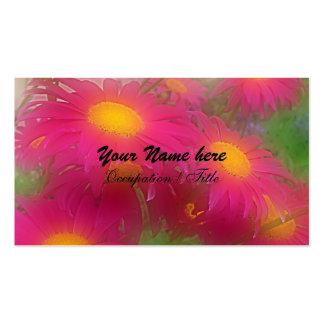 Margaritas de las rosas fuertes heladas tarjetas de visita