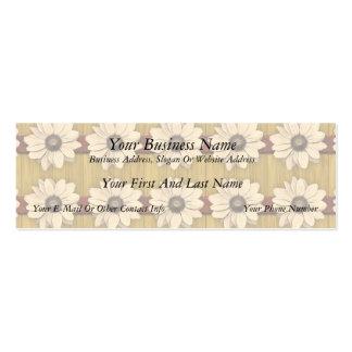 Margaritas de madera talladas mano tarjeta de visita