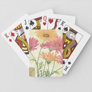 Margaritas decorativas baraja de cartas