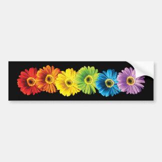 Margaritas del arco iris pegatina de parachoque