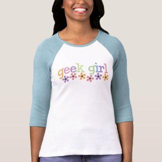 Margaritas del chica del friki camiseta