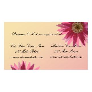Margaritas del fuscia del color de agua plantilla de tarjeta personal