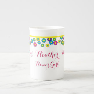 Margaritas del hippy del florista taza de porcelana