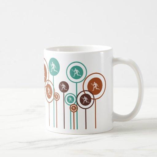Margaritas del tenis taza de café