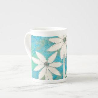 Margaritas delicadas II Taza De Porcelana