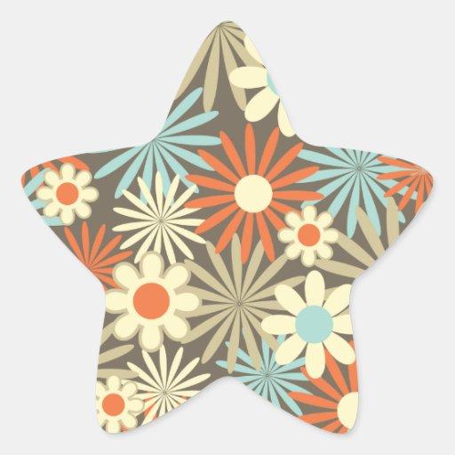 Margaritas en caramelo y azul pegatina en forma de estrella