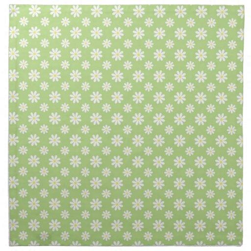 Margaritas en modelo verde servilletas de papel