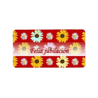 Margaritas españolas del retiro en etiqueta etiquetas de dirección