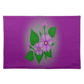 Margaritas púrpuras dulces mantel individual