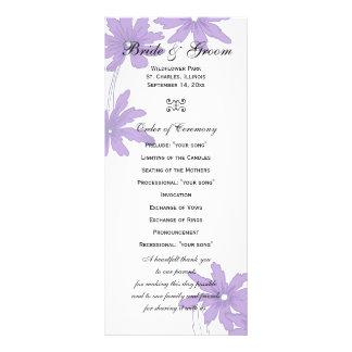 Margaritas púrpuras que casan programa lona personalizada