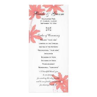 Margaritas rojas que casan programa diseños de tarjetas publicitarias