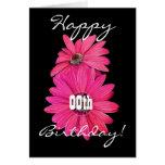 Margaritas rosadas bonitas de encargo del feliz cu felicitación