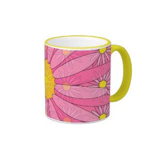 Margaritas rosadas bonitas taza de café