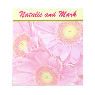 Margaritas rosadas de Gerber Blocs De Notas