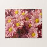 Margaritas rosadas del verano puzzle